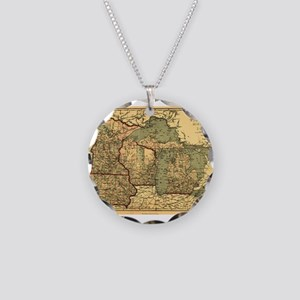 Midwest map 1873 Necklace