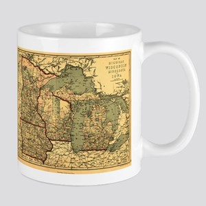 Midwest map 1873 Mugs