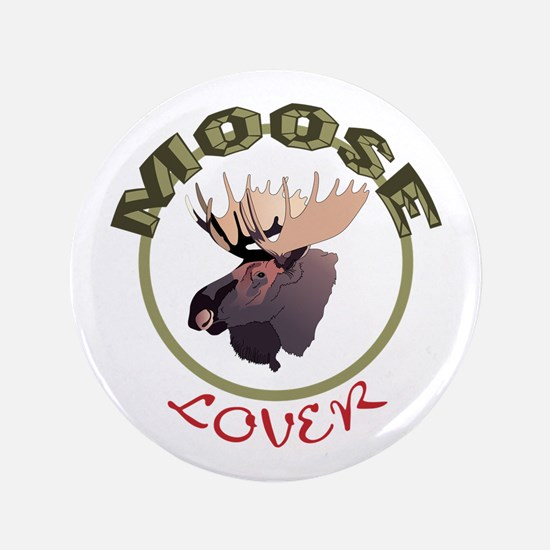 """Moose Lover 3.5"""" Button"""