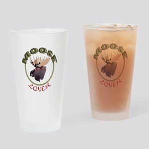 Moose Lover Drinking Glass