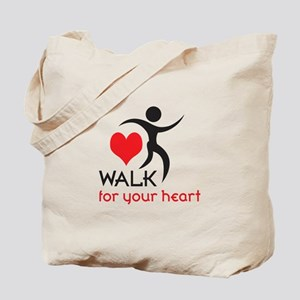 WALK FOR YOUR HEART Tote Bag