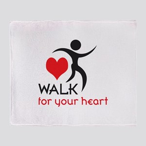 WALK FOR YOUR HEART Throw Blanket
