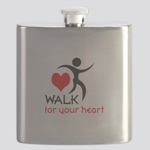 WALK FOR YOUR HEART Flask
