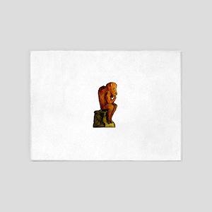 The Buffalo Thinker 5'x7'Area Rug