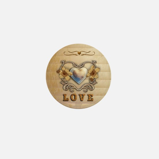 Love Scrolls and Swirls Mini Button