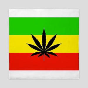 Reggae Weed flag Queen Duvet