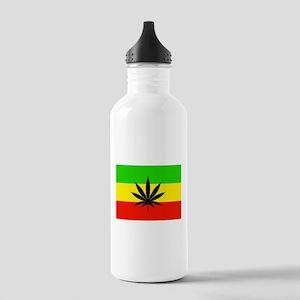 Reggae Weed flag Water Bottle