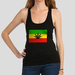 Reggae Weed flag Racerback Tank Top