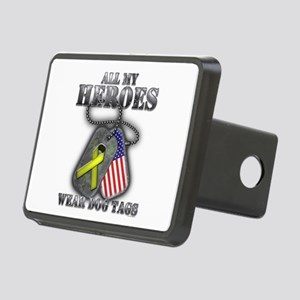 All My Heroes Wear Dog Tags Hitch Cover