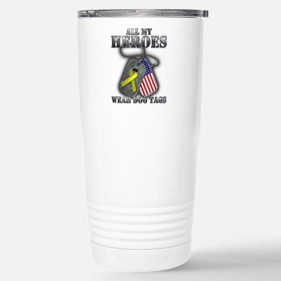 All My Heroes Wear Dog Tags Travel Mug