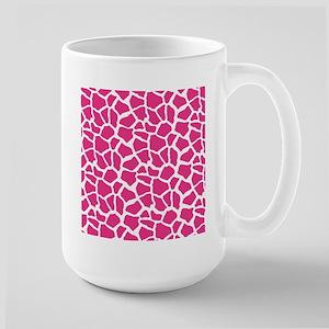 Pink and White Giraffe Pattern Animal Print Mugs