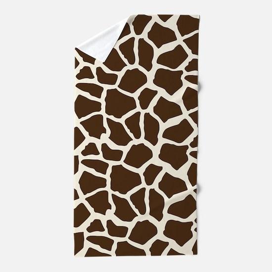 Brown and Tan Giraffe Pattern Animal Print Beach T