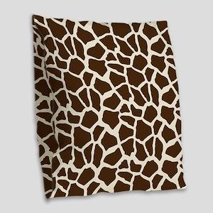 Brown and Tan Giraffe Pattern Animal Print Burlap