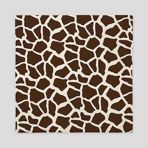 Brown and Tan Giraffe Pattern Animal Print Queen D
