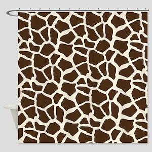 Brown and Tan Giraffe Pattern Animal Print Shower