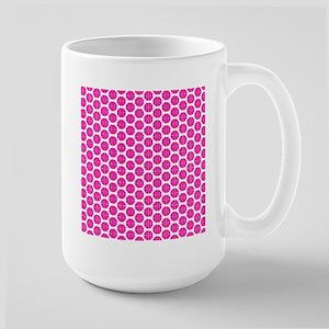Pink and White Basketball Pattern Mugs