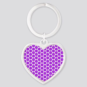 Purple and White Basketball Pattern Keychains