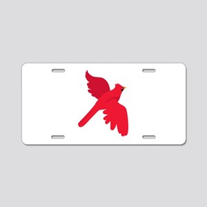 Cardinal Bird Aluminum License Plate