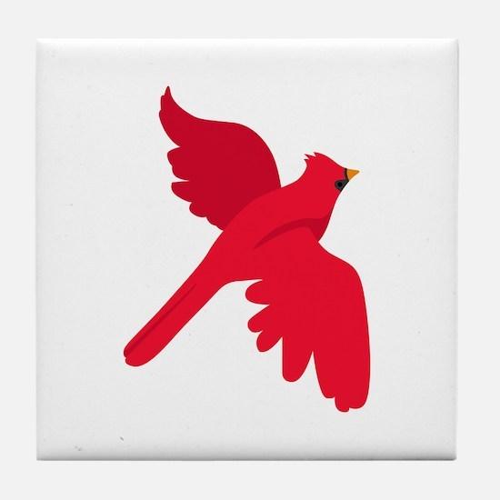 Cardinal Bird Tile Coaster