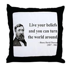 Henry David Thoreau 12 Throw Pillow