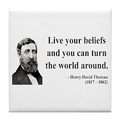 Henry David Thoreau 12 Tile Coaster