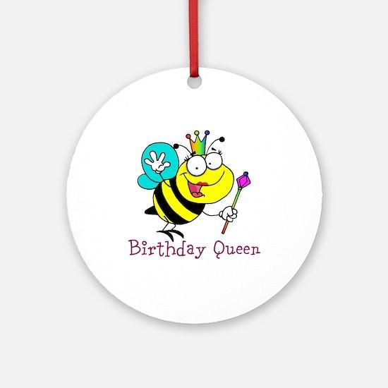 Birthday Queen Ornament (Round)