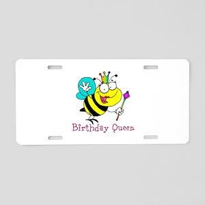Birthday Queen Aluminum License Plate