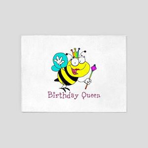 Birthday Queen 5'x7'Area Rug