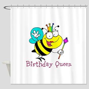 Birthday Queen Shower Curtain