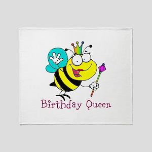 Birthday Queen Throw Blanket