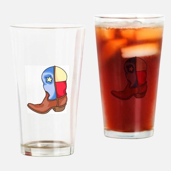 TEXAS LONESTAR BOOT Drinking Glass