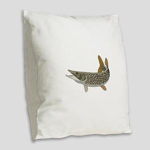 NORTHERN PIKE Burlap Throw Pillow