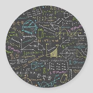 Math Lessons Round Car Magnet