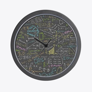 Math Lessons Wall Clock
