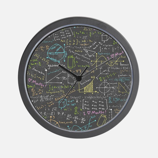 Math Lessons Wall Clock