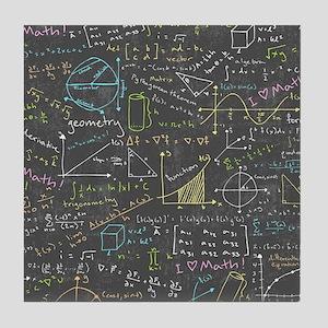 Math Lessons Tile Coaster