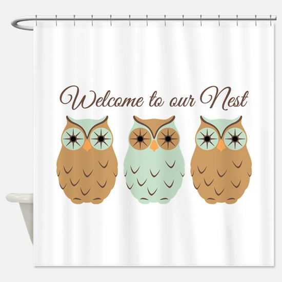 Welcome Nest Shower Curtain
