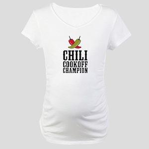 Chili Cookoff Champion Maternity T-Shirt