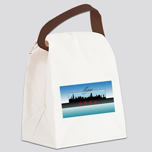 Chicago Skyline Canvas Lunch Bag