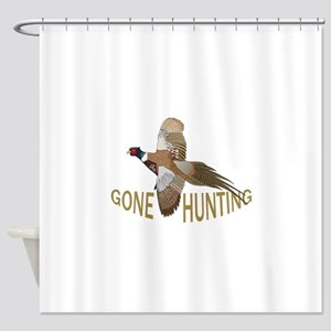 Gone Hunting Shower Curtain