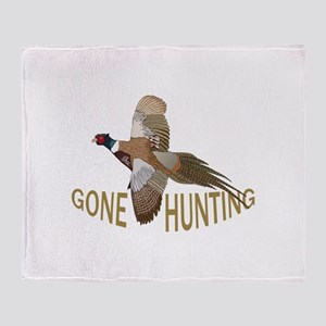 Gone Hunting Throw Blanket