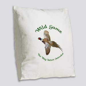 Wild Game Burlap Throw Pillow