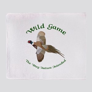 Wild Game Throw Blanket