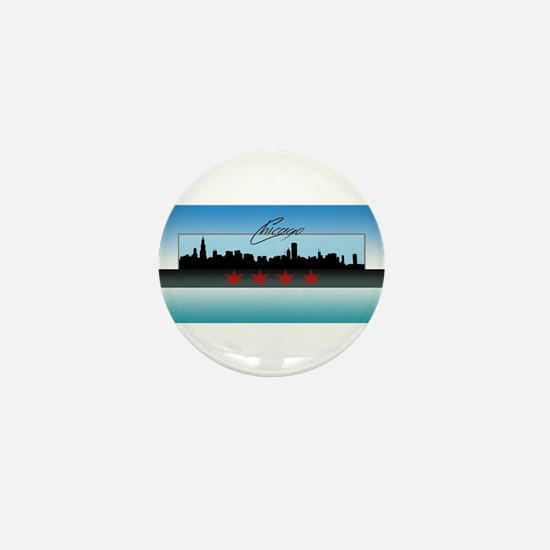 Chicago Skyline Mini Button