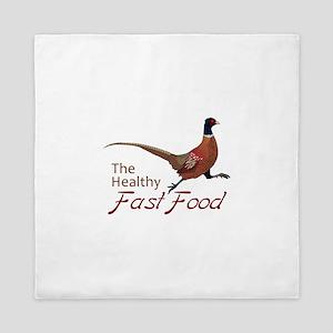 The Healthy Fast Food Queen Duvet