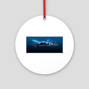 Boston Skyline Ornament (Round)