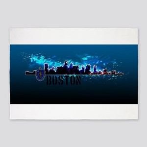 Boston Skyline 5'x7'Area Rug