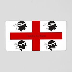Flag of Sardinia Aluminum License Plate