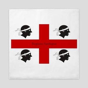 Flag of Sardinia Queen Duvet