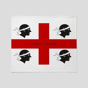 Flag of Sardinia Throw Blanket